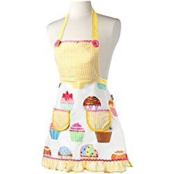 Vigar Lulu Housewife Girl - Set de gorro para cocina y delantal, color amarillo