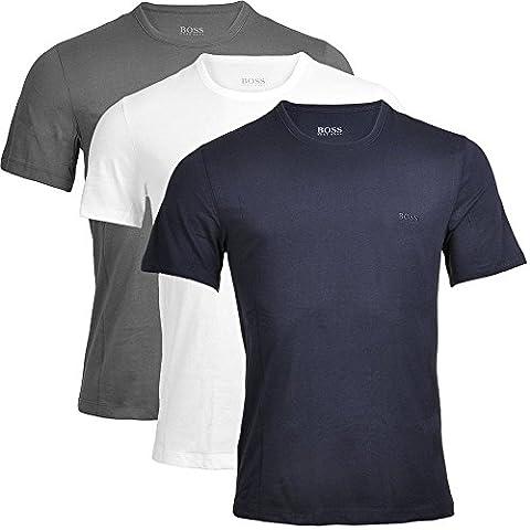 BOSS Hugo Boss Herren Unterhemd T-Shirt RN 3P CO, Blau (Open Blue 477), XX-Large