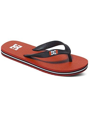 DC Shoes Spray, Infradito bambini Grigio grigio, Rosso (Red/Black/White), 5