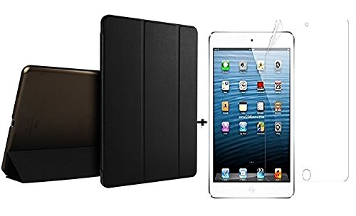 "for Apple iPad Air 1st Air 1 (9.7"" 2017) iPad Air 1 A1474 , A1475 , A1476 / Ultra Slim Smart Case Folio with (Translucent Back) Stand Flip Cover case FREE with glossy screen guard For Apple iPad Air 1st Air 1 (9.7"" 2017) Models. iPad Air 1 A1474 , A1475 , A1476 / (Black)"