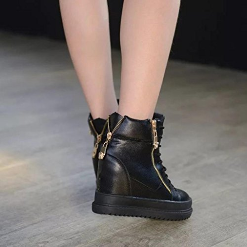 Ladies Increase High Shoes, SOMESUN Zeppe signore casuali alto aumento alta Scarpe: Platform Shoes Tempo libero Black