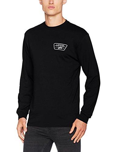 Vans Herren T-Shirt Full Patch Back Ls Schwarz (Black/White)