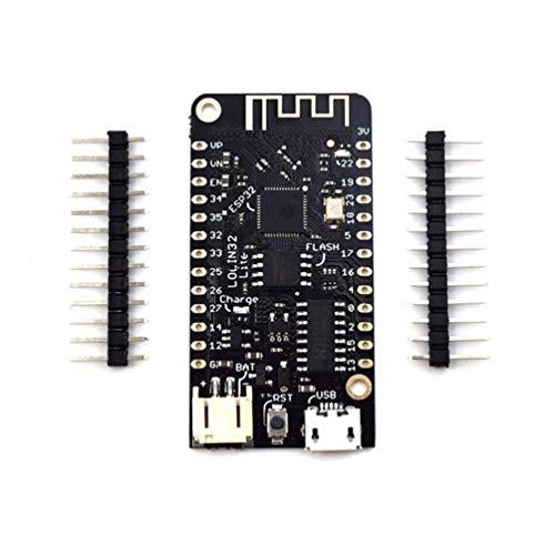 CHOULI Esp32 Entwicklungsboard Wemos Lite V1.0.0 WiFi Card Rev1 Entwicklungsboard Schwarz Radio-v1