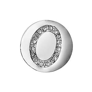 Eligo Bijoux plaqué argent 18mm Alphabet O Brillant bouton-pression pour Eligo 18mm Bracelets Button