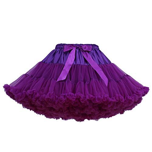 Battnot❤ Damen Tüllrock Kurz Tutu Ballett Ballkleid Unterrock 50er Rockabilly Petticoat Tanzen Kleider Elegant Gelegenheit Zubehör Abendkleid, Frauen Qualität Plissee Party Kostüm Womens Skirt Dress