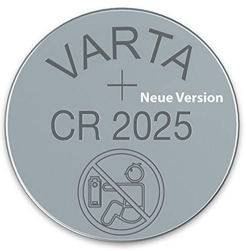 Varta CR2025 Lithium Knopfzelle 3 Volt im WNS-emg-World Blister Pack, 20 Stück - 3v Lithium-batterie 2025