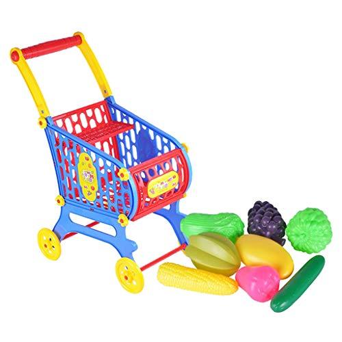 Perfeclan Kinder Einkaufswagen mit warenkorb