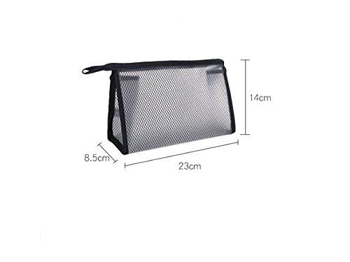 Décor de cheveux Sac de rangement étanche portable pour hommes et femmes pour les sacs de maquillage sac de lavage cosmétique (noir) Cadeau de mariée