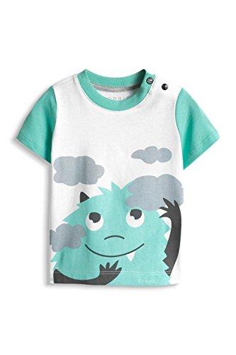 ESPRIT Baby - Jungen T-Shirt 026EEBK003, Gr. 68, Weiß (WHITE 100)