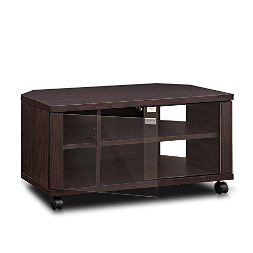"""41LmpB1%2Bd4L - Furinno Indo fl-800ex Soporte de TV con Doble Puertas de Cristal y Ruedas, 2x 2,""""Espresso"""