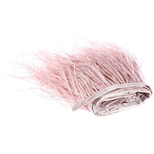 ansen Band Straußenfedern Feder für Bekleidung DIY Nähen Handwerk (Rosa) ()