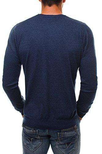 OZONEE Herren Pullover Hoodie Sweatshirt Longsleeve MIX Dunkelblau_NM8001