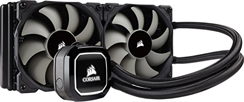 Corsair Hydro H100x Wasserkühlung (2 x 120mm Lüfter, All-In-One High Performance CPU) schwarz