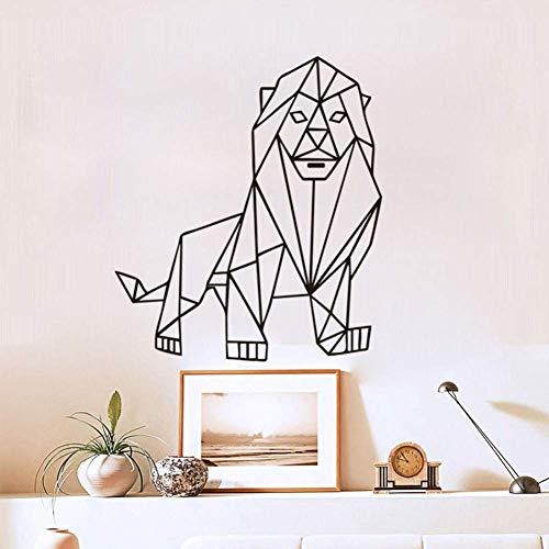 ZTMN Wandaufkleber Geometrische Origami Lion Kreative Geschnitzte Wandaufkleber 58 * 50 cm