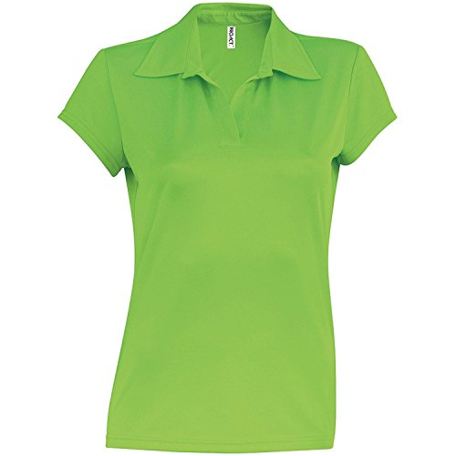 Kariban Proact Polo a Manica Corta - Donna Verde lime