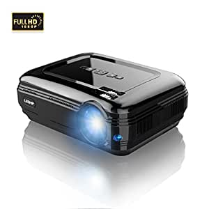 OUTAD LCD Projector, 3200 Lumens Multimedia, Support Full HD 1080P HDMI Dual USB VGA AV HDMI for Home Cinema, Movie,TV, Laptops, Games, Smartphones