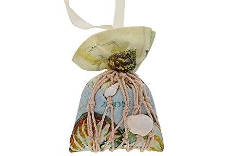 Blumen Bambuskohle Hängeschnüre Feuchtigkeit und Geruch Absorbierer – Seemuschel Design mit Duft Raum Schrank Auto Erfrischer für Gesunde Saubere Luft