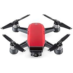 DJI Spark Fly More Combo - Dron cuadricóptero, full hd, 12 mpx, 50 km/h, 16 minutos, 6 accesorios - Rojo volcán