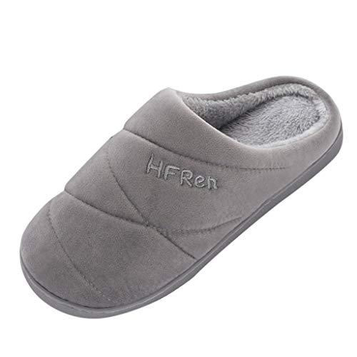 IFRich Zapatillas de Estar por Casa, Hombres Parejas Colores Lisos Calzado Antideslizante Zapatillas...