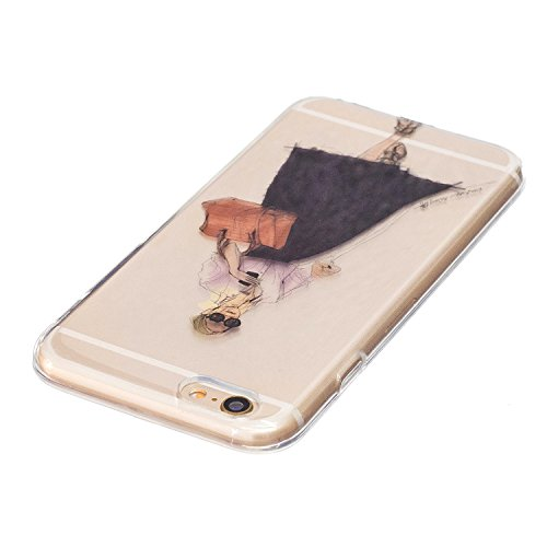 Custodia iPhone 6, iPhone 6S Cover Silicone, SainCat Cover per iPhone 6/6S Custodia Silicone Morbido, Ultra Slim Transparent Silicone Case Ultra Sottile Morbida Transparent TPU Gel Cover Case Shock-Ab Occhiali da Sole Femminile