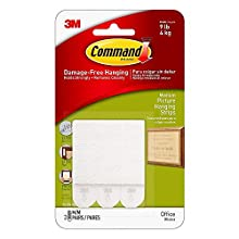 Command 17201 Medium Picture Hanging Strips,White (9 Packs of 3 Pairs)
