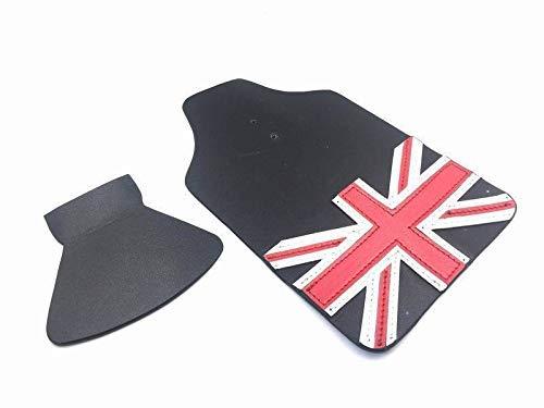London Craftwork Cuero Trasero a Delanteros Guardabarros Aletas para Brompton Union Jack Negro