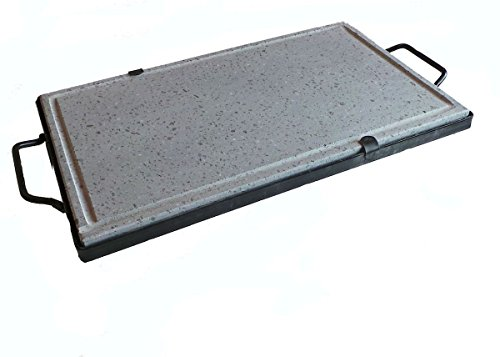 Piastra ollare lavica bistecchiera in pietra 50x30 cm cottura dietetica
