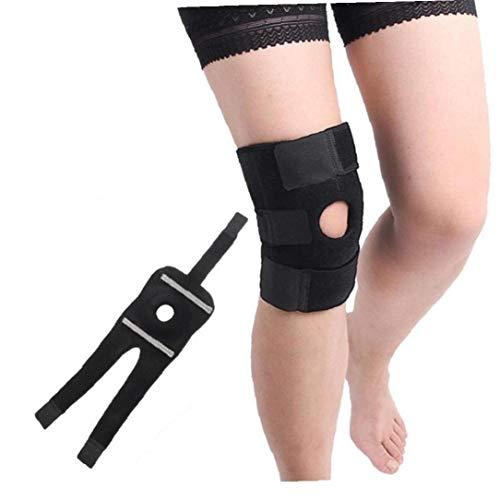 Sport-verletzungen Erholung (Knie Patella-Stützklammer für Männer Frauen öffnen Patella Knie-Stabilisator für das Gehen Verletzungen Erholung Rennen Sport ACL Nicht Beleg Bequeme Einstellbare Kniestütze Neopren)