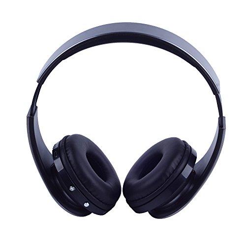 Top-Longer Bluetooth 3.0 EDR Tiefe Bass Wireless Stereo Bluetooth Kopfhörer Noise Cancelling Kopfhörer mit Mic,Unterstützungs TF Karte, FM Radio. Gray - 2