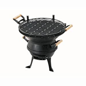 Grillchef 0630 Barbecue Pot en Fonte Ancienne H- 36 cm