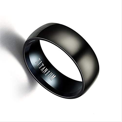 Toporchid Schwarz Titan Ring Männer Matte Klassische Engagement Schmuck Ringe Für Männliche Party Eheringe (Größe 10) (Kostüm Schmuck Ringe Engagement)