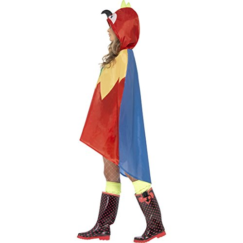 Vogelkostüm Papageienkostüm Regenponcho Cape Papageien Party Poncho Papagei Kostüm Karnevalskostüme Tier Vogel Tierkostüm Papageikostüm (Kostüme Vogel Flügel)