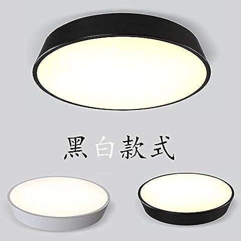 KAI-Le salon light lampe de plafond chambre chaude lumière plafond led bande lumineuse réglable sur une commande à distance?Black Diameter 42cm