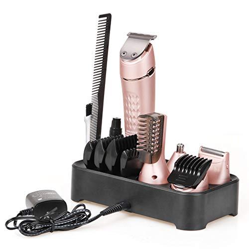 5-in-1 taglio di capelli kit rasatura, naso tagliacapelli, stile dei capelli, capelli taglio combinazione famiglia testa taglierina può essere pulito,Rosegold