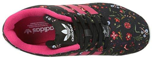 adidasZX Flux - Scarpe da Ginnastica Basse Donna Nero (Schwarz (Core Black/Vivid Berry S14/Ftwr White))