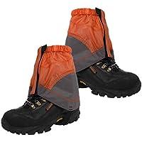 VORCOOL Calzas Deportivas para Tobillo Ligeras Botas de Nylon para Caminar Senderismo Deportes al Aire Libre (Naranja)