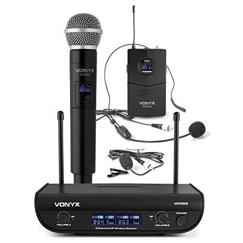 Radio Microfono UHF gelato + archetto + pulce WM82C