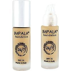 Impala Base de Maquillaje N6 Bronceado Natural 24/7 Waterproof Larga Duración SPF15