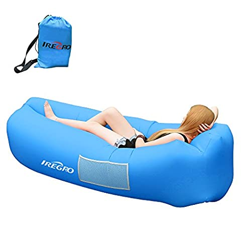 Inflatable Lounger iRegro Inflatable Sofa with Storage Bag and Side