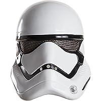 Questa mezzamaschera da Stormtrooper per adulto è in licenza ufficialeStar Wars VII.In plastica sottile, è di colore bianco e nero. Una rete nera è presente in corrispondenza degli occhi per assicurarvi una visione ottimale. Copre la parte...