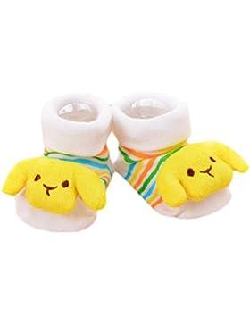 3 pares de bebé recién nacido antideslizante calcetines del niño medias cálidas regalo de cumpleaños del bebé...