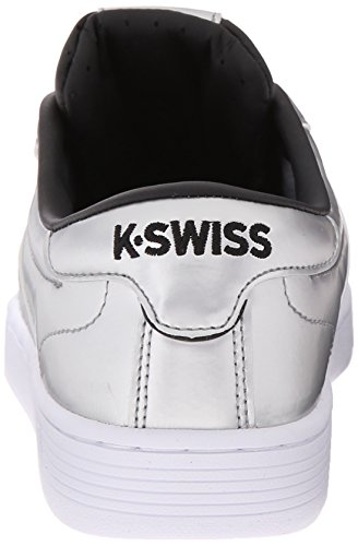 K-Swiss - Hoke Metallic Cmf S, Scarpe da ginnastica Donna Argento (Silber (SLV/BLK/WHT 084))