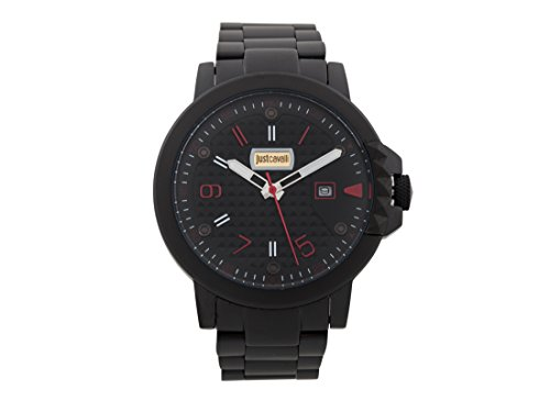 Just Cavalli Mens Analogue Classic Quartz Watch with Stainless Steel Strap JC1G016M0095