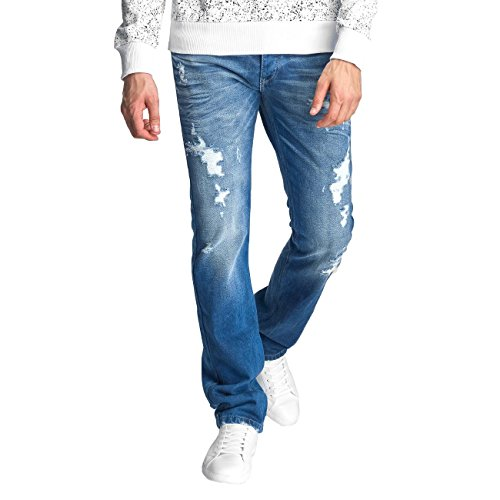 Red Bridge Herren Jeans / Straight Fit Jeans Ischewsk Blau