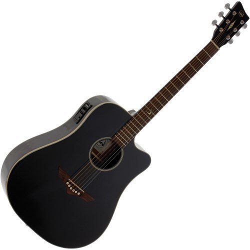 VGS RT-10 CE Root - Guitarra acústica, color negro