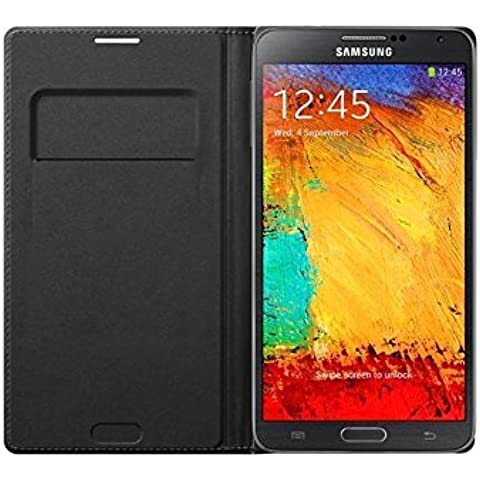 Samsung Wallet Flip - Funda para móvil Galaxy Note 3 (Incluye bolsillo interior para tarjeta), indigo