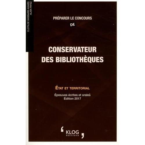 Préparer le concours de conservateur des bibliothèques : Etat et territorial