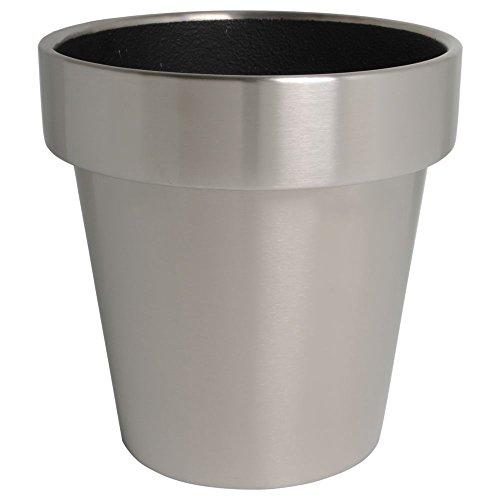 hydroflora 61424000 Pot à plante Value Line Cycle Advanced Edge diamètre 40 x 40 cm, en acier inoxydable V4A brossè mat