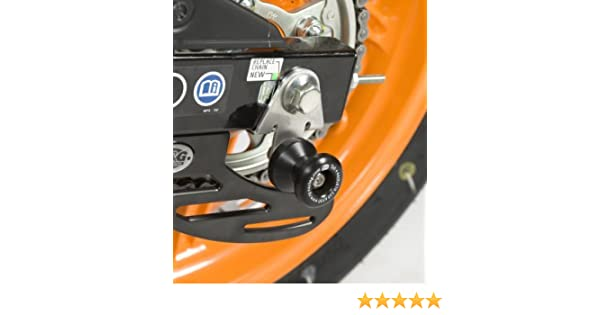 R/&G RACING BLACK COTTON REELS FITS HONDA CBR125R 2011-2012