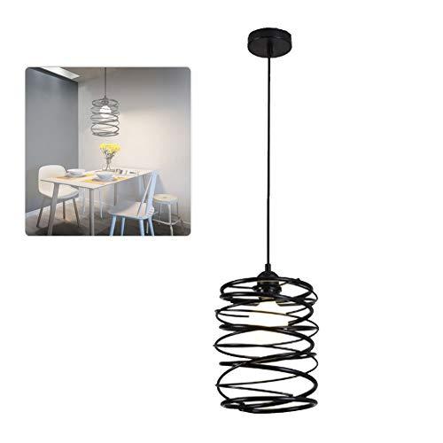 KIKBLW LED Schmiedeeisen Kronleuchter, Frühling kreative Schlafzimmer Single Head Lampe Beleuchtung Esszimmer Kronleuchter amerikanische Lampe -